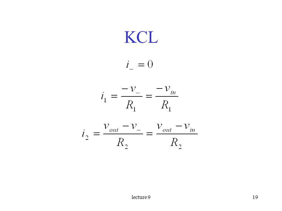 lecture 919 KCL