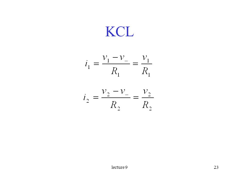 lecture 923 KCL