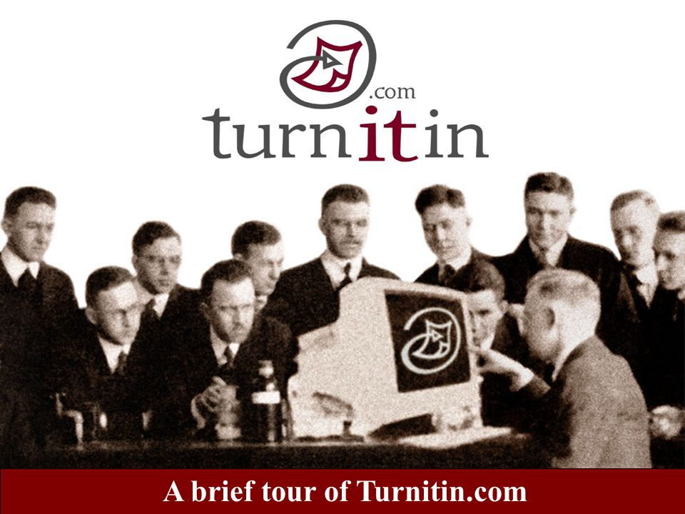 This is a question about Turnitin.com?