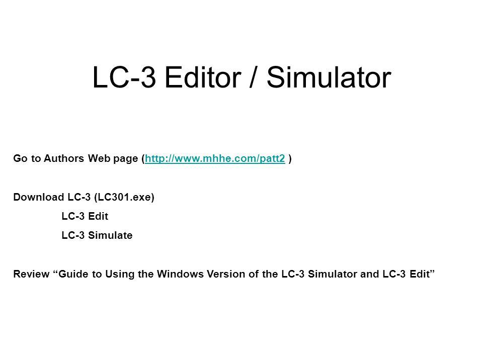 LC-3 assembly language program?