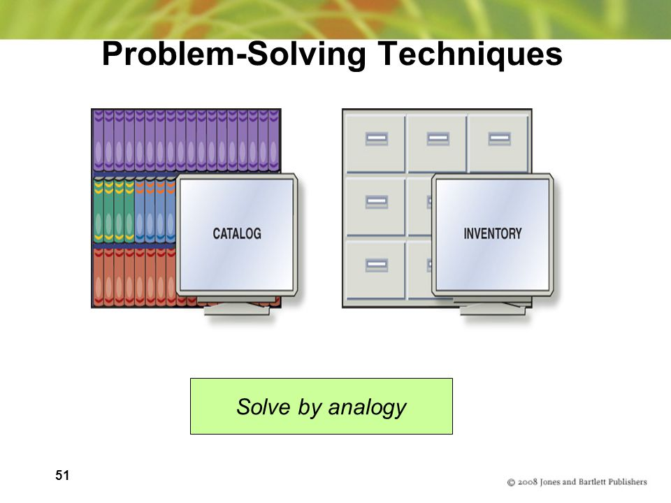 51 Problem-Solving Techniques Solve by analogy