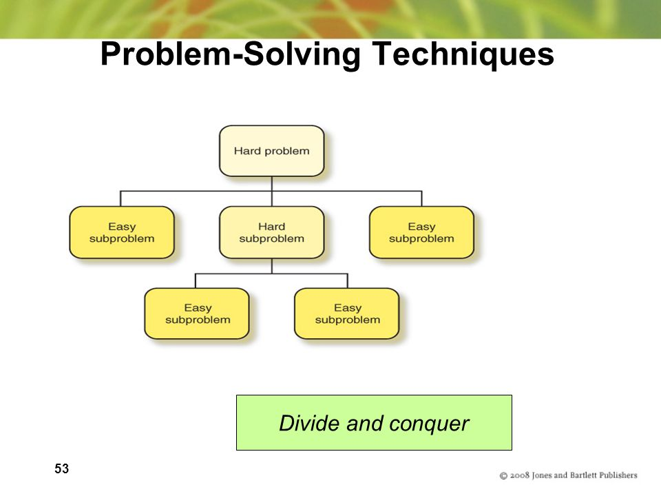 53 Problem-Solving Techniques Divide and conquer
