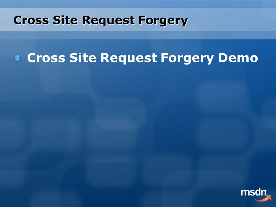 Cross Site Request Forgery Demo