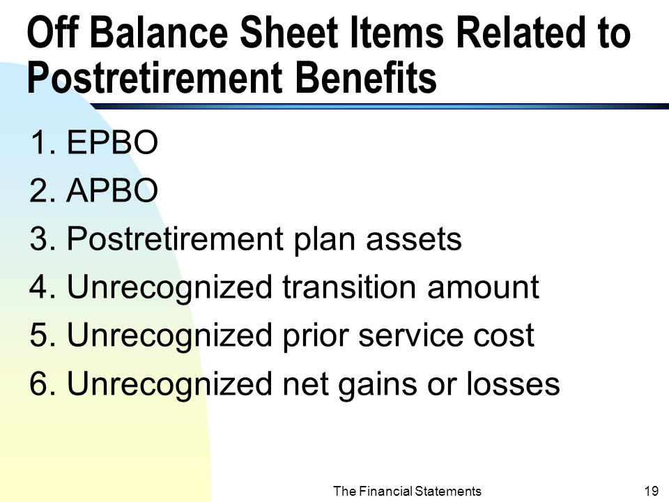The Financial Statements18 The Transition Amount - the Accounting Treatments (contd.) B.
