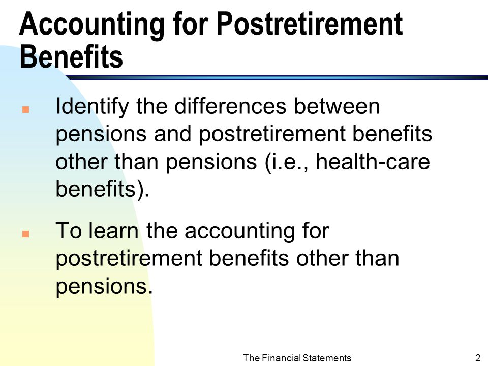 Intermediate Financial Accounting Postretirement Benefits Other than Pensions