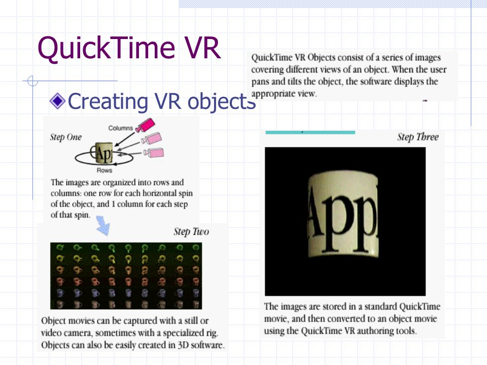 QuickTime VR Creating VR objects