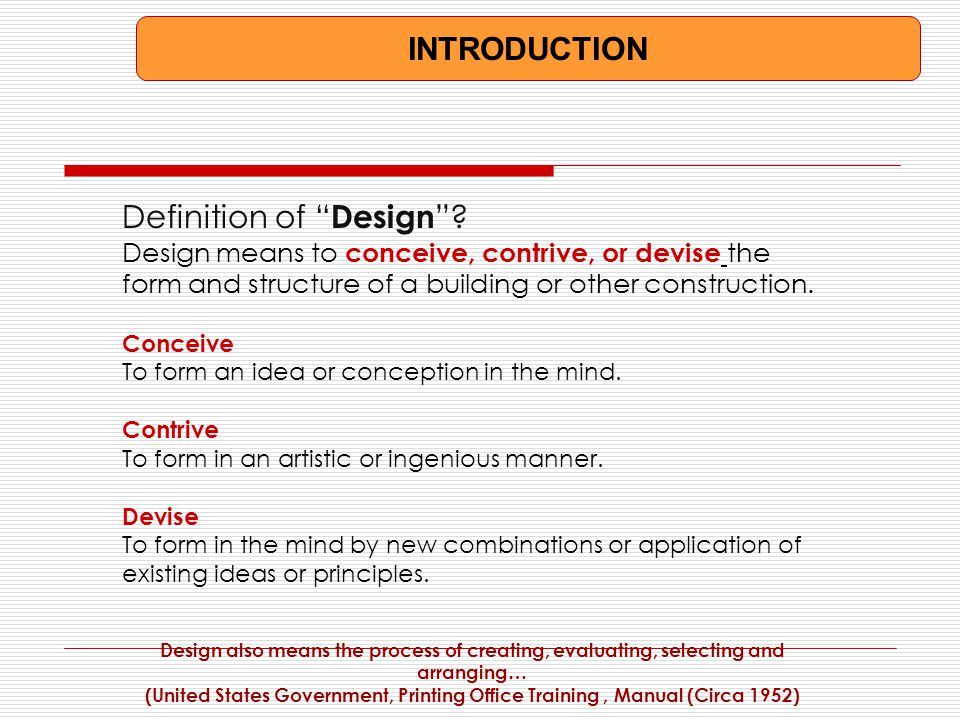 Nice INTRODUCTION Definition Of Design .