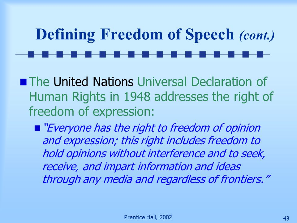 a declaration freedom and the rights