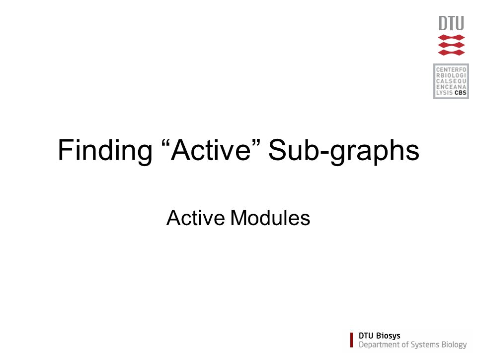 Finding Active Sub-graphs Active Modules