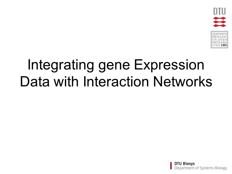 Integrating gene Expression Data with Interaction Networks