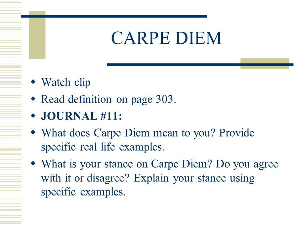 carpe diem essay critical reflection example of carpe diem what does carpe diem mean to you essay homework for you what does carpe diem mean