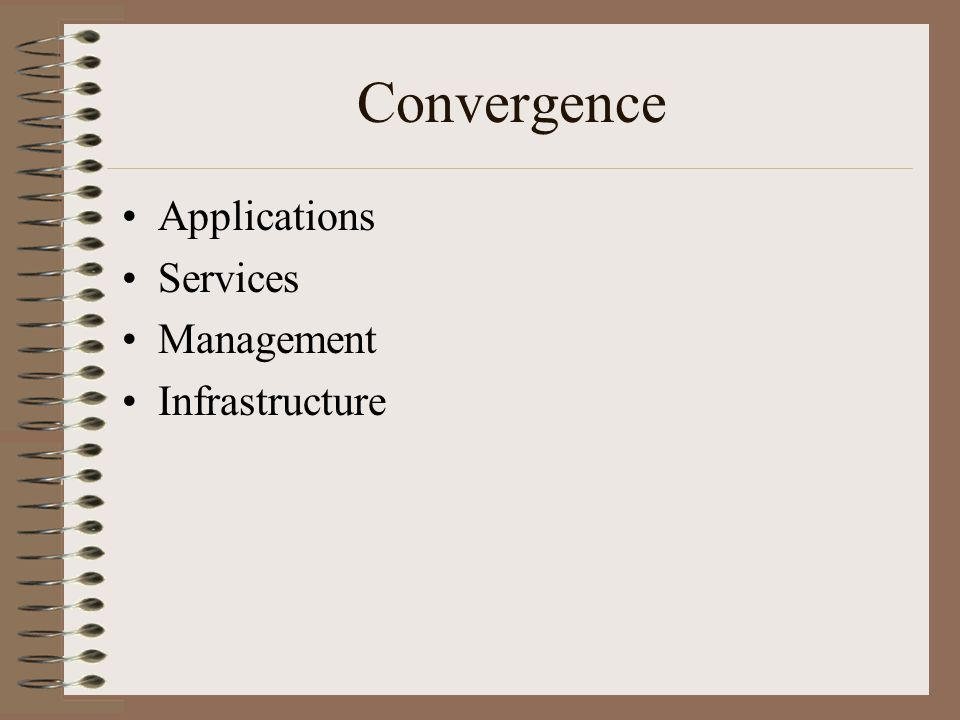 Convergence Applications Services Management Infrastructure