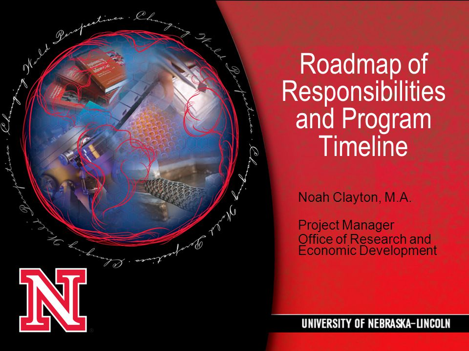 Roadmap of Responsibilities and Program Timeline Noah Clayton, M.A.