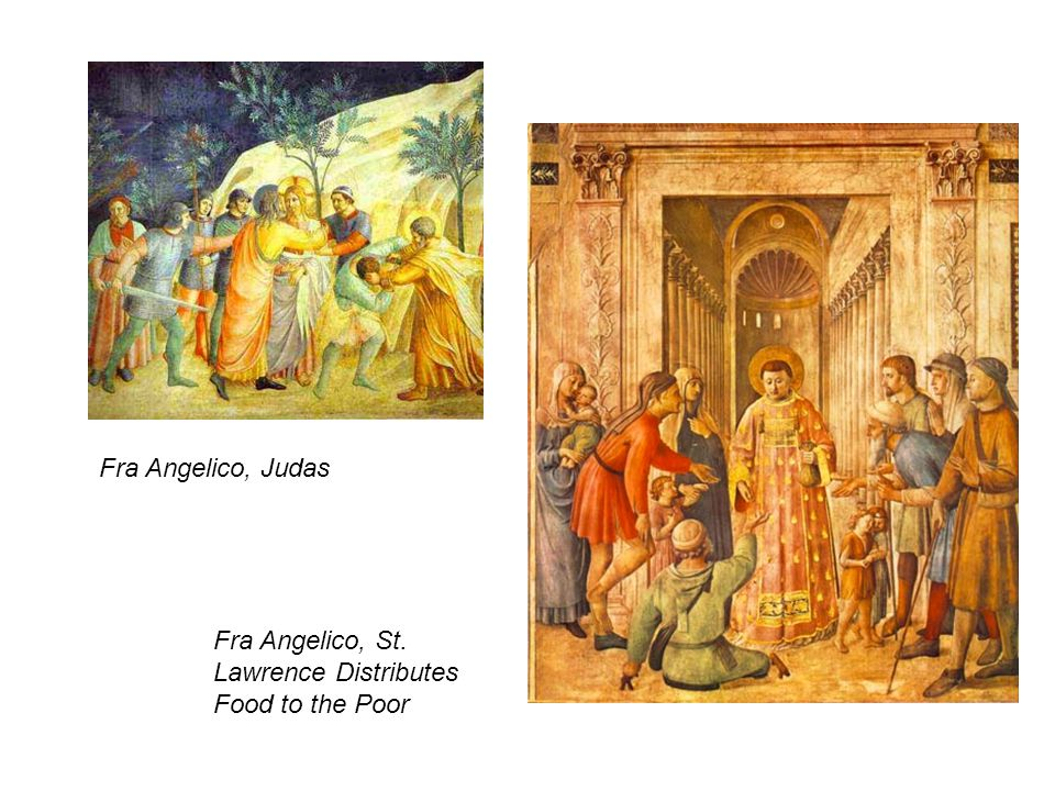 Fra Angelico, Judas Fra Angelico, St. Lawrence Distributes Food to the Poor