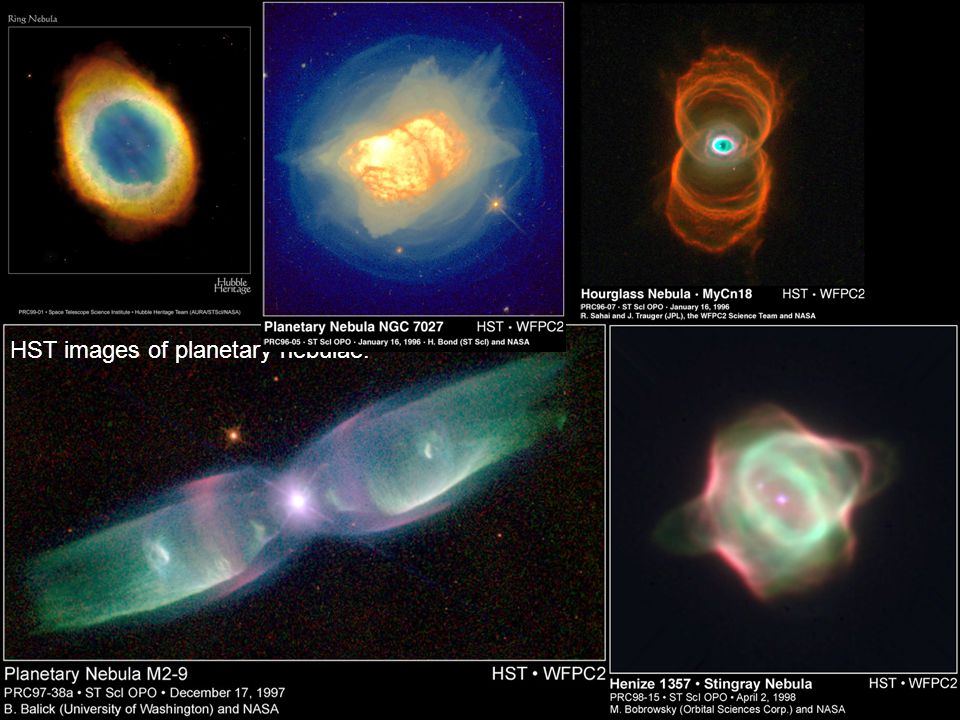 Lecture 15PHYS1005 – 2003/4 HST images of planetary nebulae: