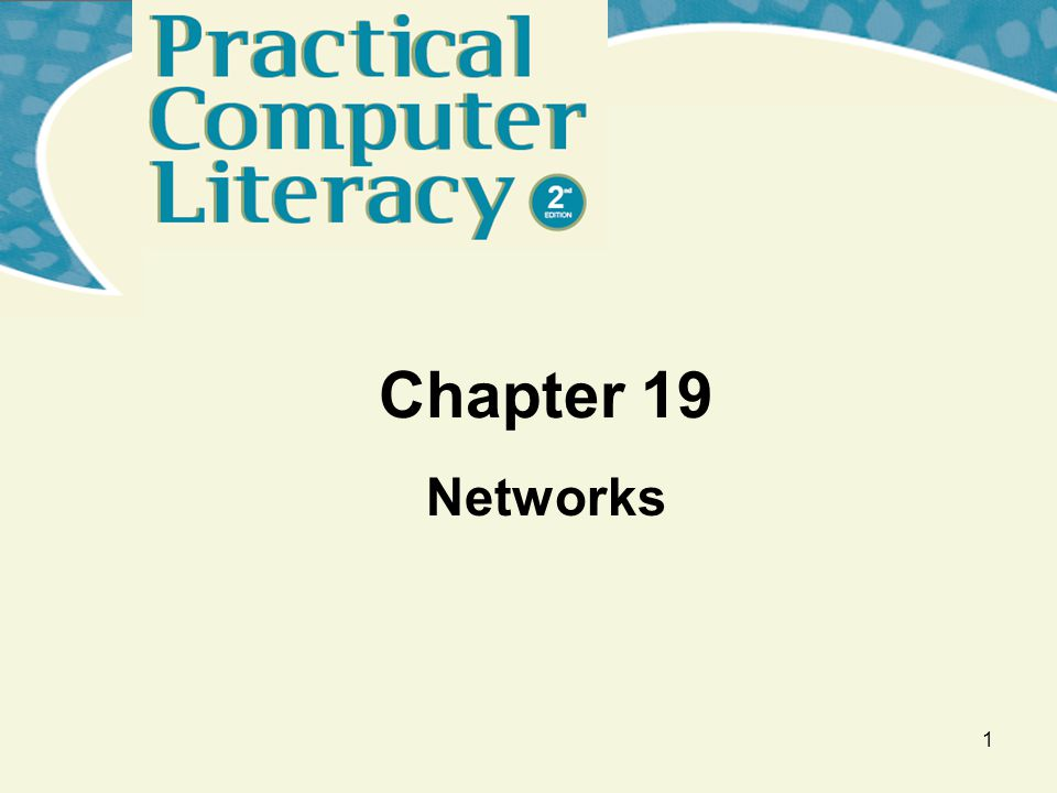 1 Chapter 19 Networks