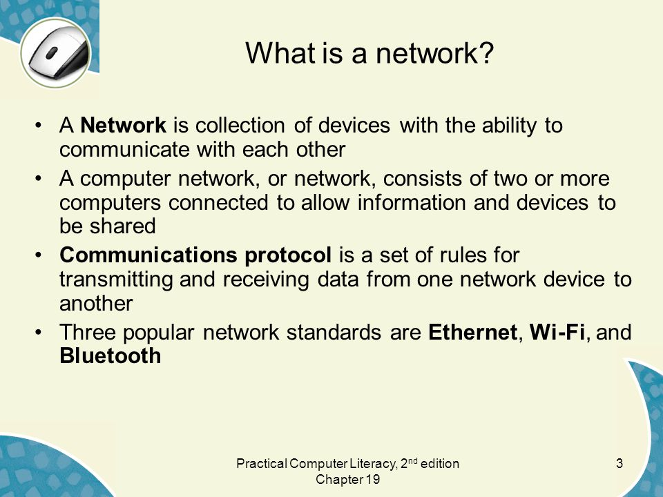 3 What is a network.