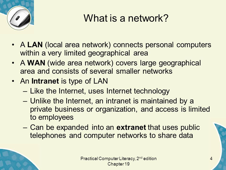 4 What is a network.