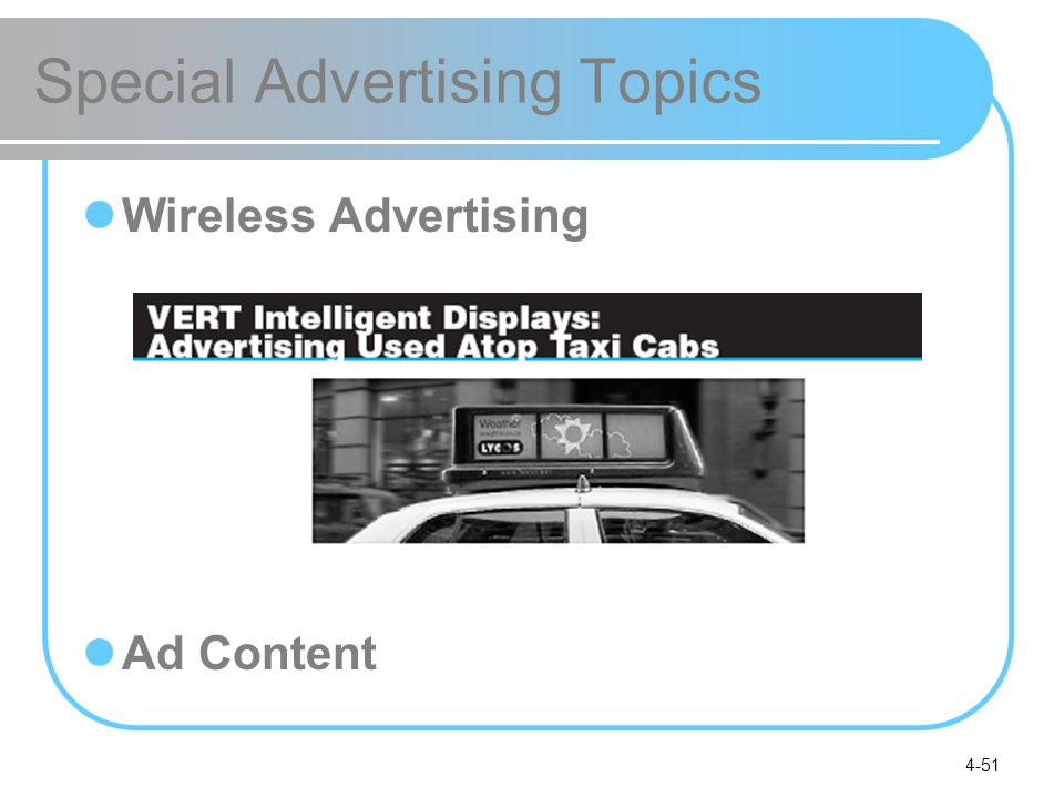 4-51 Special Advertising Topics Wireless Advertising Ad Content