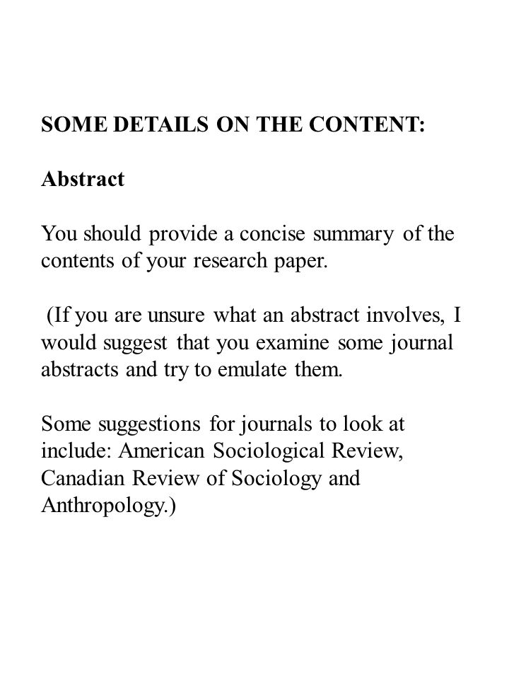 format of a research paper abstract How to write an abstract: office of undergraduate research an abstract is a short summary of your completed that is similar to your research sample abstracts:.