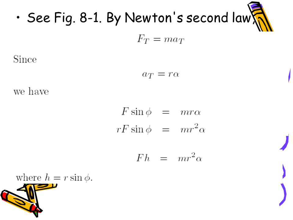 See Fig By Newton s second law,