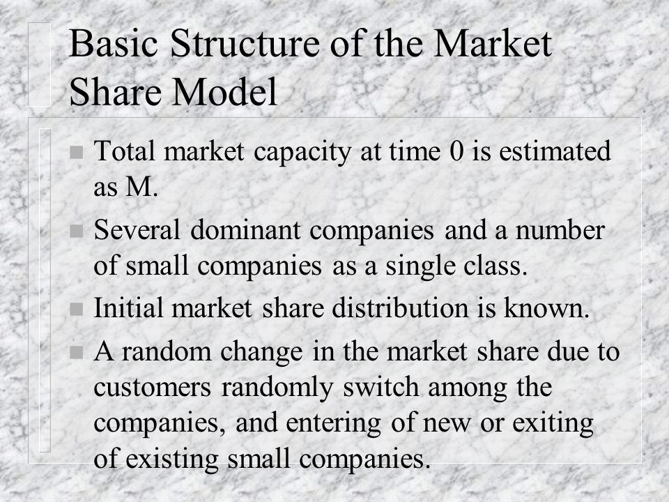 Applications of Poisson Distribution n Market Share Model n Machine Maintenance Model n Waiting-line (queueing) Model