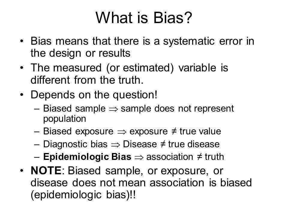 1.40 p= Epidemiologic Association Chance Bias Confounding Truth ...