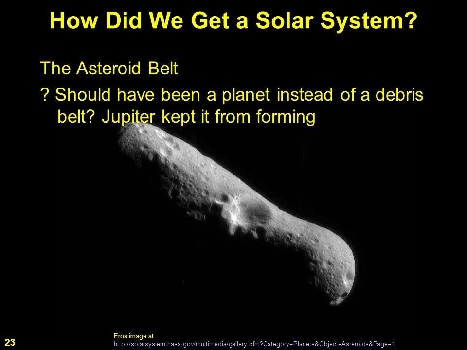 23 The Asteroid Belt . Should have been a planet instead of a debris belt.