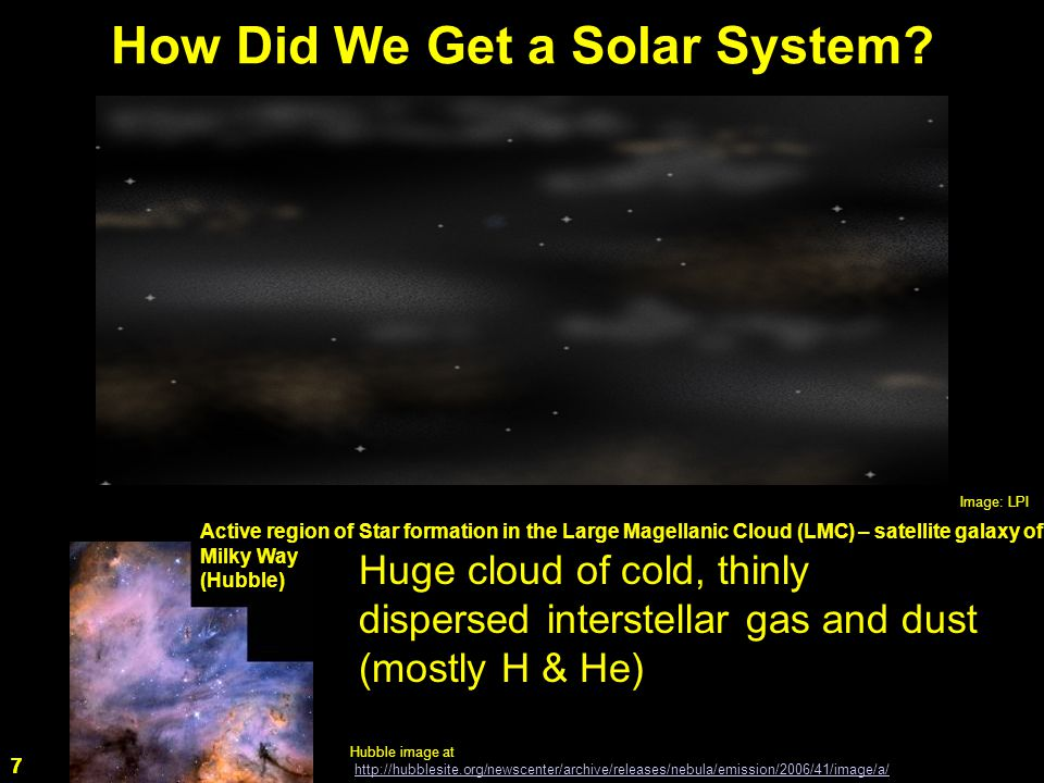 7 How Did We Get a Solar System.