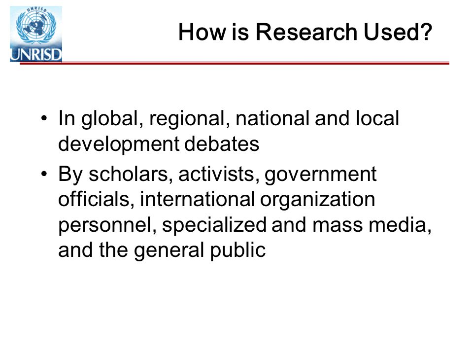 How is Research Used.