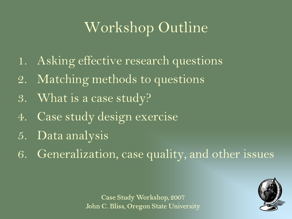 Case Study - Qualitative Research Guidelines Project