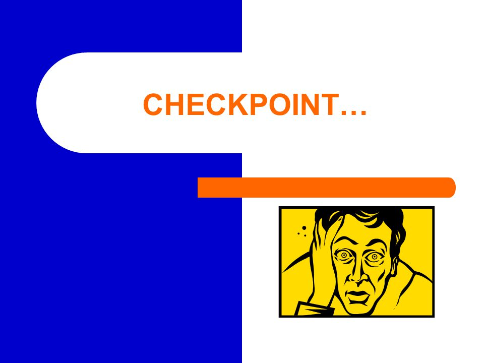 CHECKPOINT…