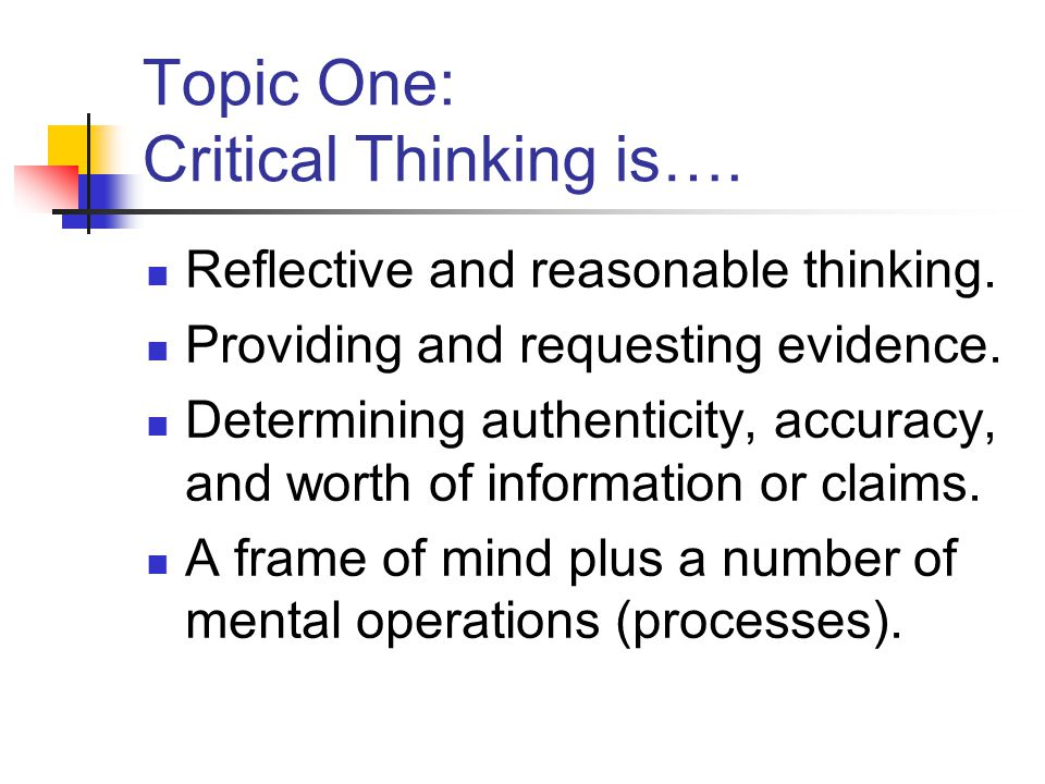 critical thinking argument topics