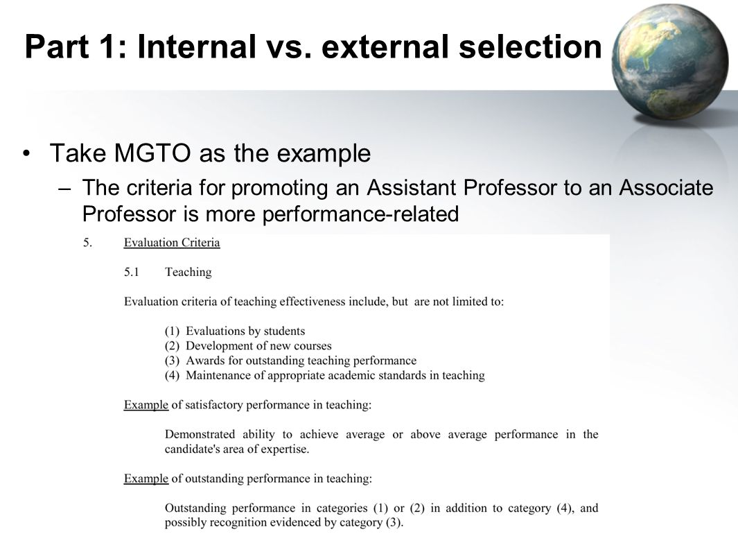 internal selection essay In order to increase efficiency in hiring and retention and to ensure consistency and compliance in the recruitment and selection internal candidates will.