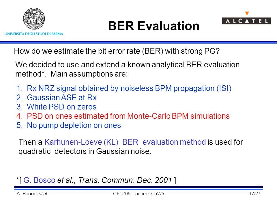 ber using monte carlo simulation