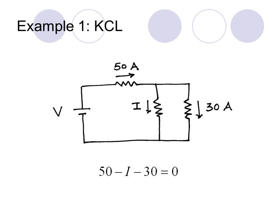 Example 1: KCL