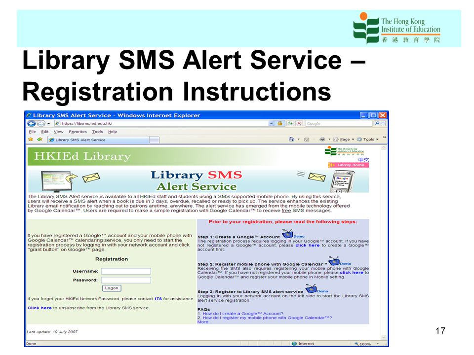Sending Sms Short Message Service To Library Patrons By Using
