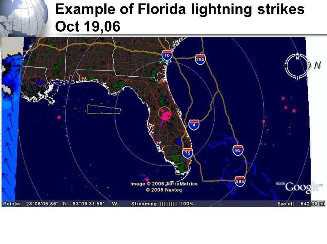 Example of Florida lightning strikes Oct 19,06