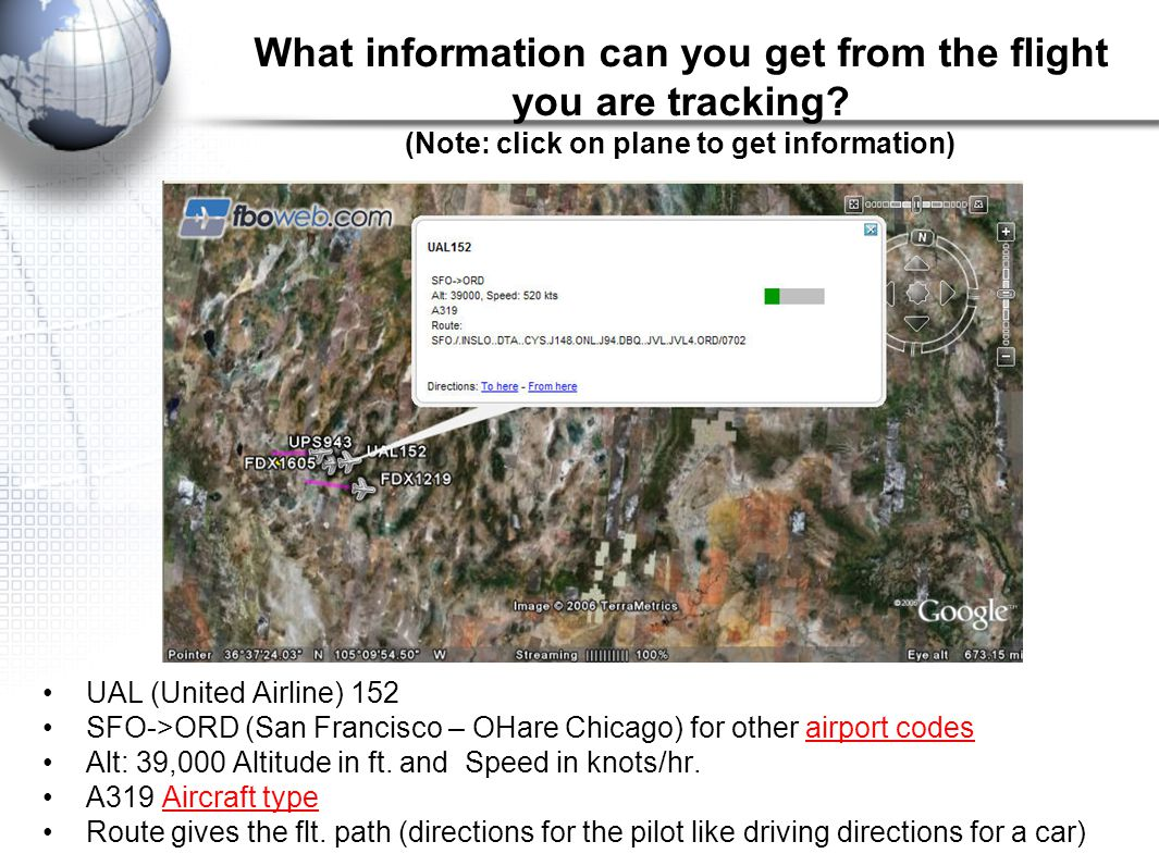 What information can you get from the flight you are tracking.