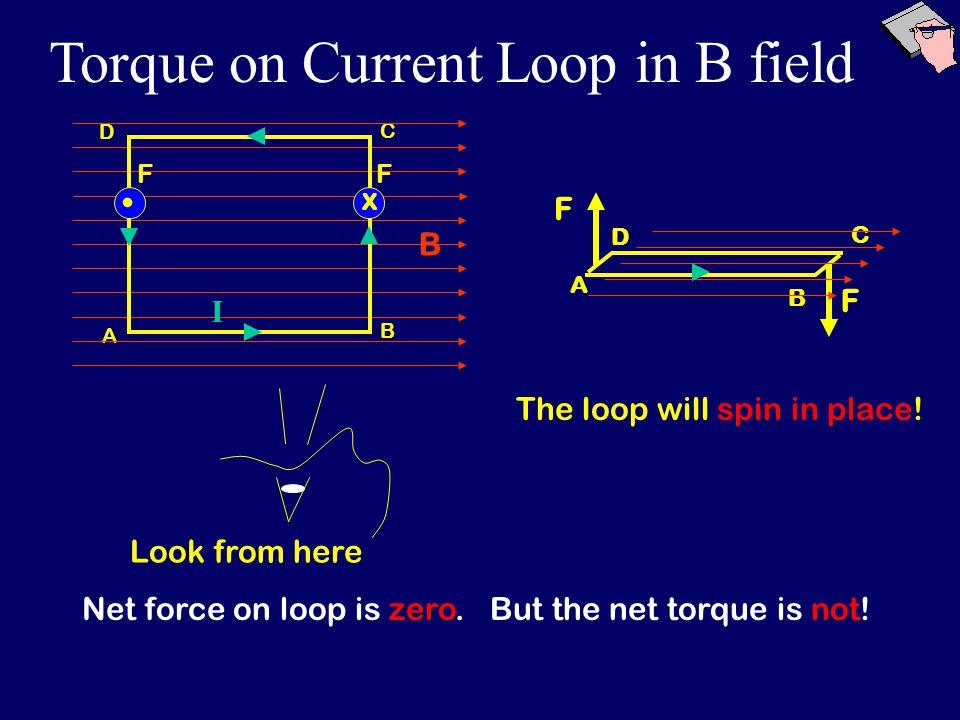 Net force on loop is zero. Look from here But the net torque is not.