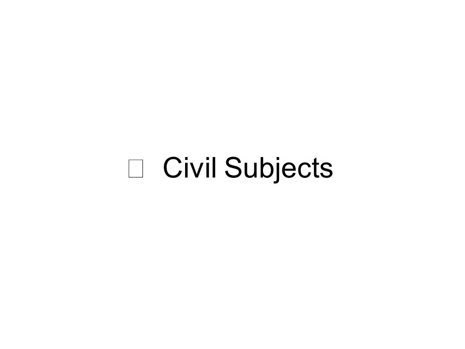 Ⅱ Civil Subjects
