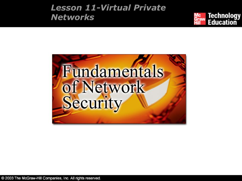 Lesson 11-Virtual Private Networks
