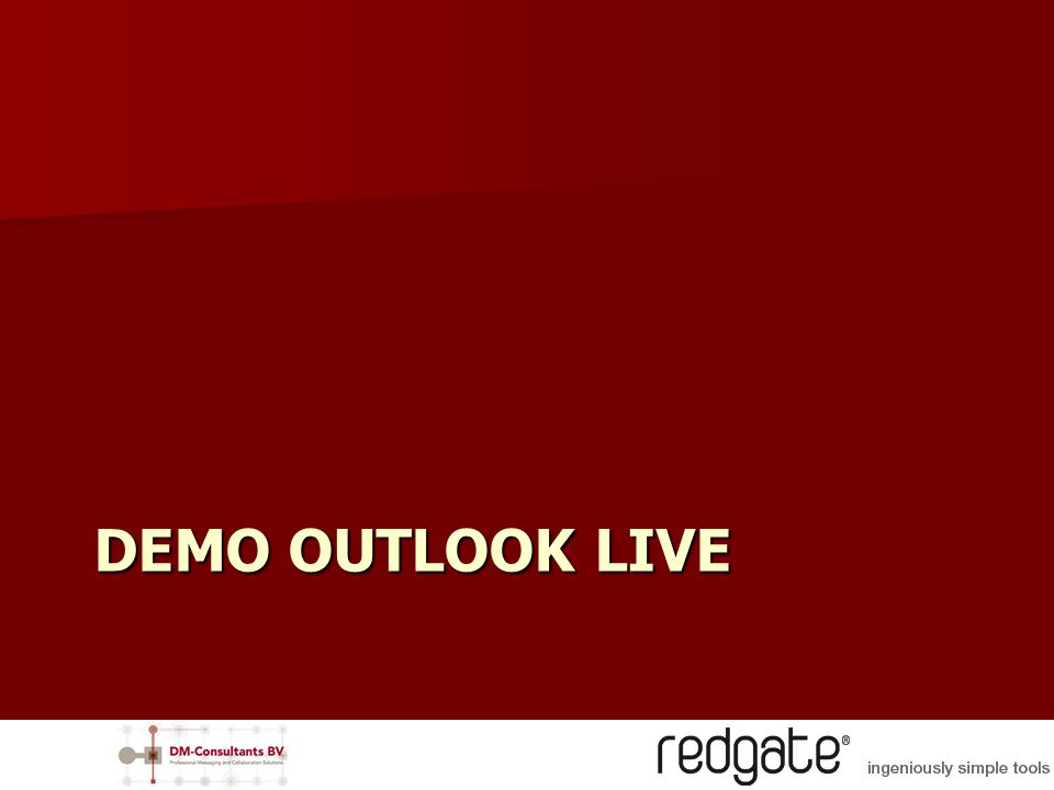DEMO OUTLOOK LIVE