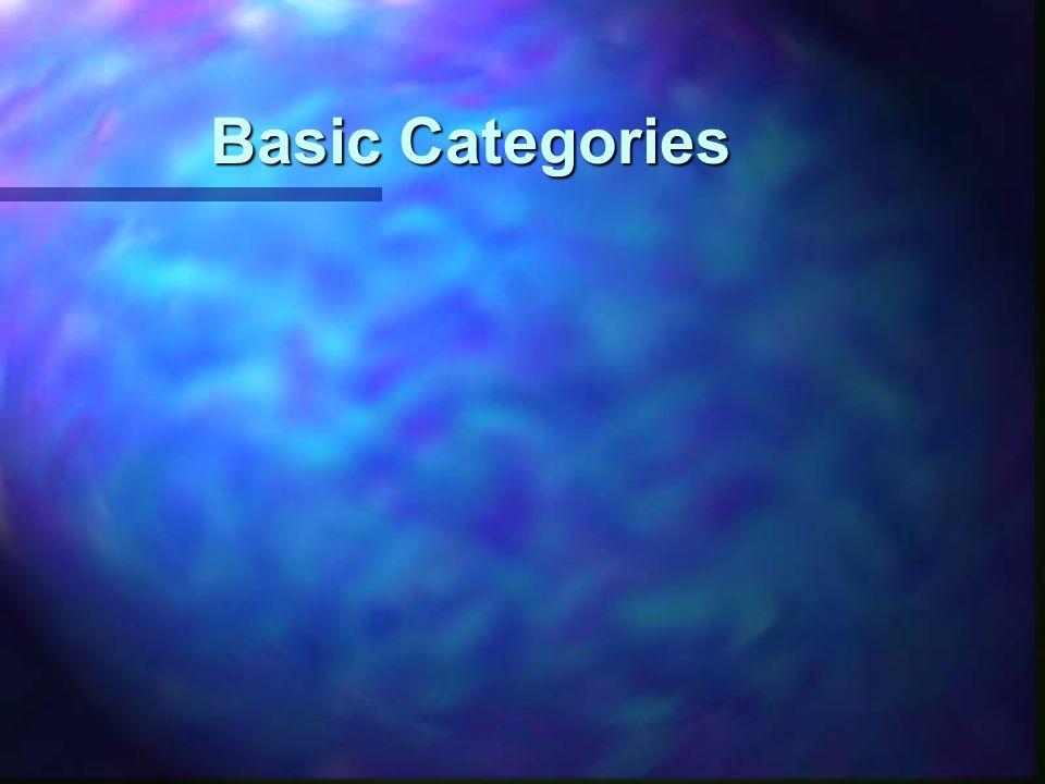 Basic Categories