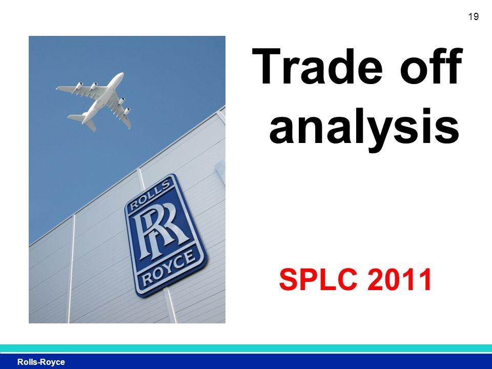 Rolls-Royce Trade off analysis SPLC 2011 19