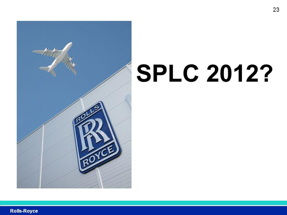 Rolls-Royce 23 SPLC 2012