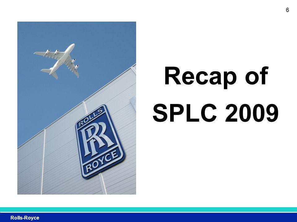 Rolls-Royce Recap of SPLC 2009 6