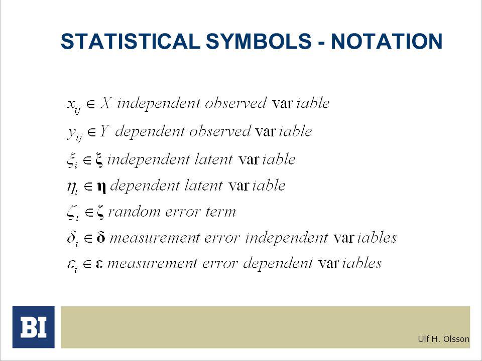 Gra 6020 Multivariate Statistics The Structural Equation Model Ulf H