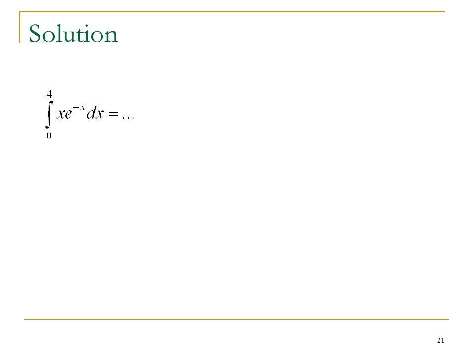 21 Solution