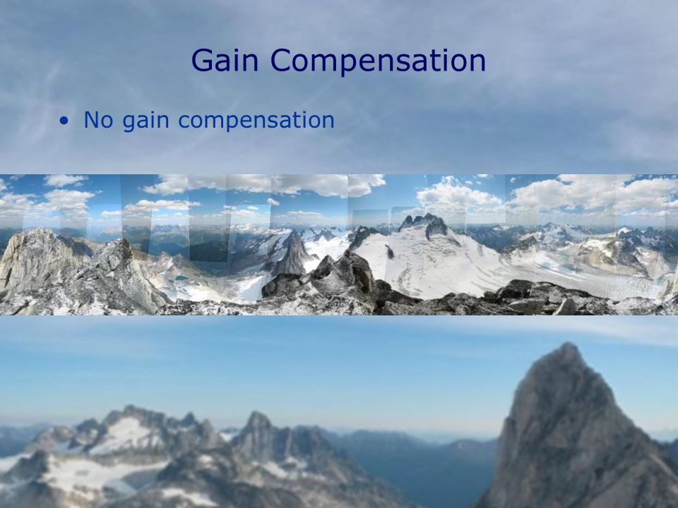 Gain Compensation No gain compensation